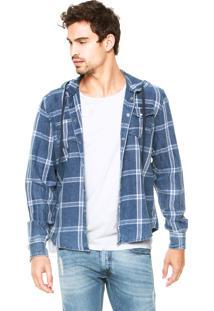 Camisa Calvin Klein Jeans Xadrez Campuz Azul