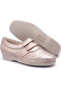 Sapato Conforto Top Franca Shoes Feminino - Feminino-Rosê