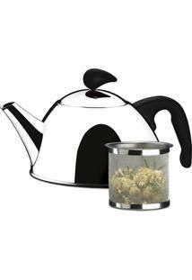 Chaleira Inox Verona Para Chá 1L Com Coador 2153100 Brinox