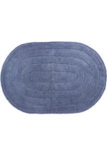 Tapete De Banheiro Allegro 40X60 Cm - Kapazi - Azul Claro