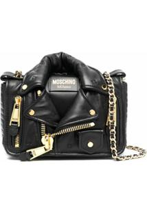 Moschino Biker Shoulder Bag - Preto