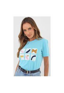 Camiseta Cantão Quadros Azul