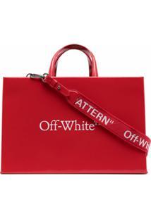 Off-White Bolsa Média Com Estampa De Logo - Vermelho
