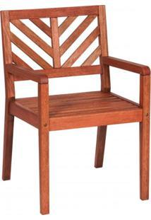 Cadeira Com Braços Eko Mestra Móveis Polisten Jatobá