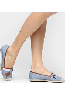 Alpargata Moleca Patchs - Feminino-Jeans