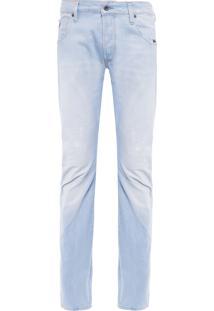 Calça Masculina Arc Zip 3D Slim – Azul