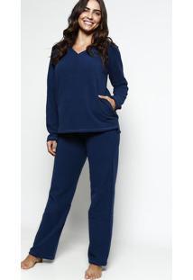 Pijama Flanelado- Azul Marinho- Hopehope