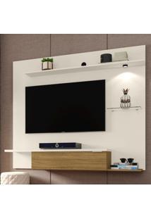 Painel Para Tv Até 55 Polegadas 1 Porta 4 Prateleiras Ubatuba 2075224 Off White/Cinamomo - Bechara Móveis