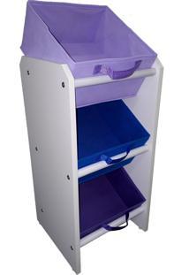Organizador Organibox Porta Brinquedo Azul Violeta Lilas Mini