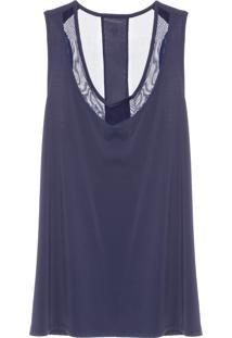 Regata Feminina Luxe - Azul