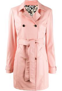 Liu Jo Trench Coat Com Abotoamento Duplo - Rosa