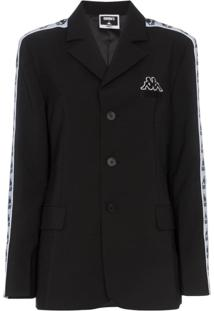 Charm'S Blazer 'Charm'S X Kappa' Com Logo - Preto