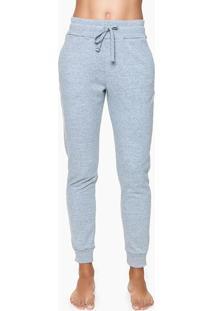 Calça Feminina Moletom Cinza Mescla Loungewear Calvin Klein - L