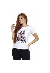 Camiseta Sideway Friends Personagens - Branca