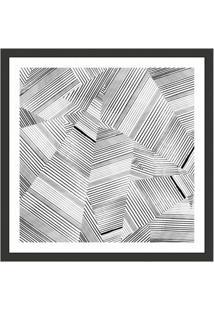 Quadro Decorativo Com Moldura Abstrato Iii Preto