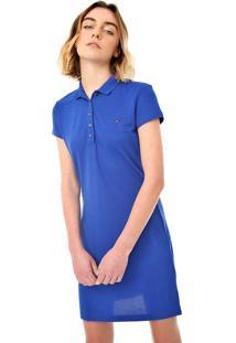 Vestido Polo Tommy Hilfiger Curto Logo Azul