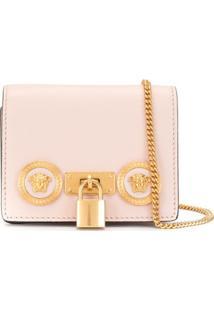 Versace Bolsa Transversal Icon Mini - Rosa