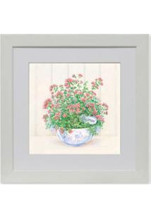 Quadro Floral Vi Kapos Branco 23X23Cm