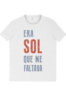 Camiseta Masculina Em Malha De Algodão Com Estampa Frontal