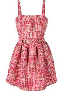 Philipp Plein Mini Tweed Dress - Vermelho