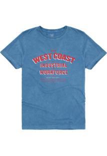T-Shirt West Coast Industrial Workforce Azul Mar