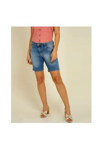 Bermuda Feminina Jeans Puídos Biotipo