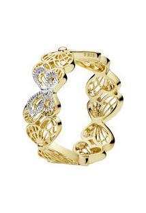 Anel Shine Transformação Banhado Á Ouro- Dourado & Pratepandora