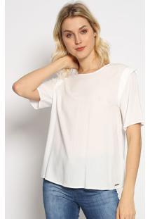 Blusa Com Recorte Vazado- Off White- Colccicolcci