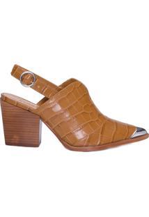 Sapato Feminino New Crocodille - Marrom