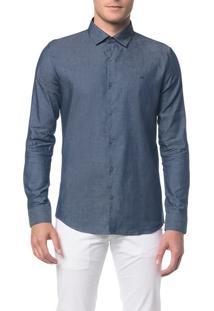 Camisa Slim Geneva Jeans - Azul Médio - 6
