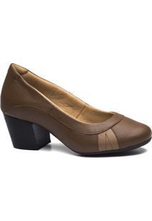 Scarpin Couro Doctor Shoes 279 Feminino - Feminino-Marrom