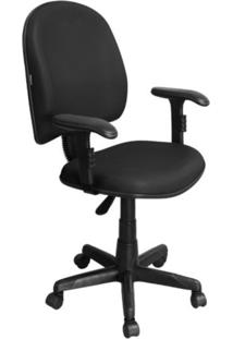 Cadeira De Escritório Pethiflex Excellence Pegbd Executiva Giratória Braços Reguláveis Preta