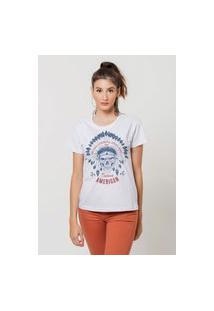 Camiseta Jay Jay Básica American Native Branca