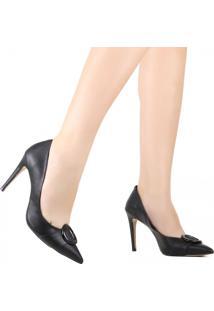 Sapato Scarpin Cecconello Bico Fino Preto