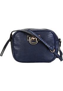 Bolsa Gash Mini Bag Cobra Feminina - Feminino-Azul