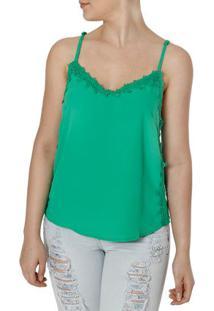 Blusa Regata Feminina Verde