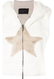 Lorena Antoniazzi Jaqueta Texturizada Com Detalhe De Estrelas - Branco
