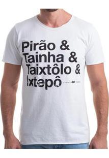 Camiseta Clothis Pirão Estonada Masculina - Masculino-Branco+Preto