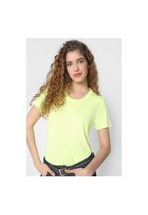 Camiseta Gap Lisa Amarela