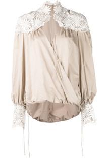 Rosie Assoulin Blusa Com Bordado Floral - Neutro