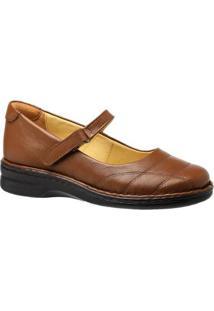 Sapatilha Couro 222M Doctor Shoes Feminina - Feminino-Marrom