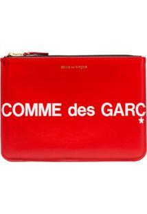 Comme Des Garçons Wallet Clutch Com Estampa De Logo - Vermelho