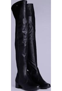 Bota Over The Knee Feminina Preto