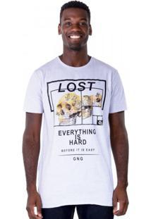 Camiseta Alongada Lost Skull