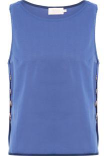 Blusa Feminina Voil - Azul