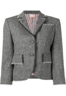 Thom Browne Blazer De Tweed - Cinza