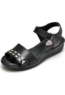 Sandalia Feminina Conforto Top Franca Shoes Preto