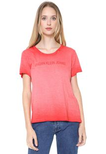 06b6c4af88b32 Blusa Calvin Klein Vermelha feminina   Shoelover