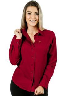 Camisa Pimenta Rosada Da Alessa - Feminino-Vermelho