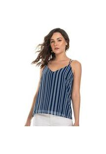 Blusa De Alça Feminina Rovitex Azul